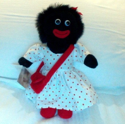Racist golliwogg golly doll received by Janet Jackson
