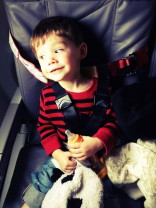 Jenelle Evans&#039; son Jace on the airplane to New York City