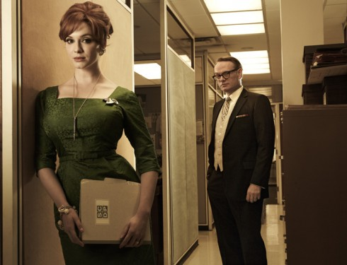 Mad Men Christina Hendricks as Joan Harris and Jared Harris as Lane Pryce
