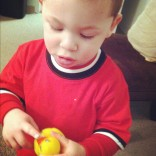 Kailyn Lowry's son Isaac holds a Teen Mom 2 rubber duck
