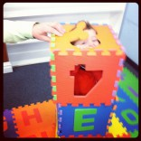 Kailyn Lowry&#039;s son Isaac playing with foam blocks at Teen Mom 2 reunion