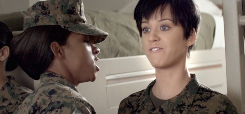 Katy Perry as a Marine in her Part of Me music video
