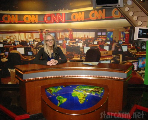 Maci Bookout as a CNN news anchor