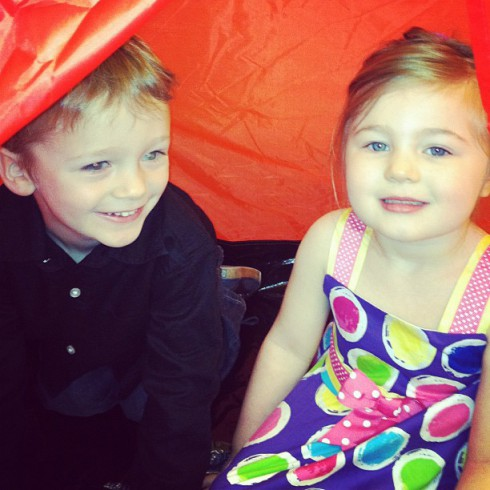 Maci Bookout's son Bentley and Amber Portwood's daughter Leah in New York City