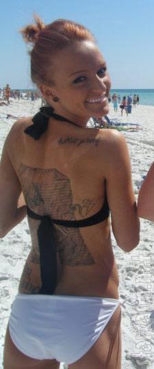 Maci Bookout bikini tattoo photo
