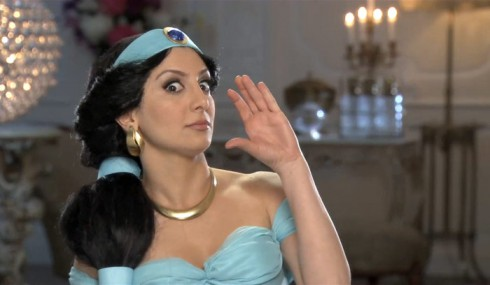 Nasim Pedrad as Jasmine in SNL's The Real Housewives of Disney