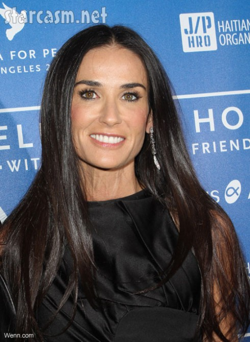 Demi Moore natural