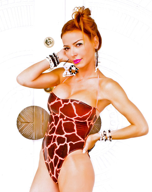 Drita D'Avanzo swimsuit Something Wild