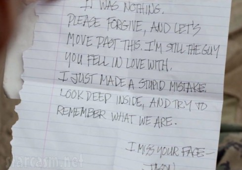 Hand-written letter from Katy Perry's ex in her Part of Me music video