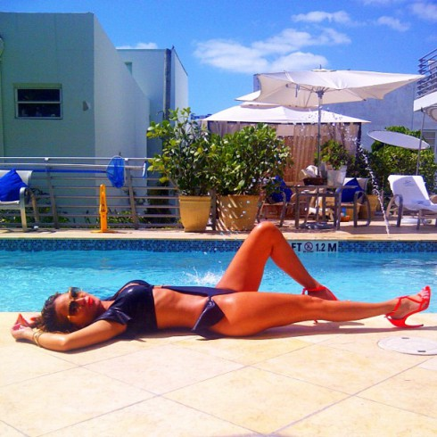 Adrienne Bailon Twitter bikini photo