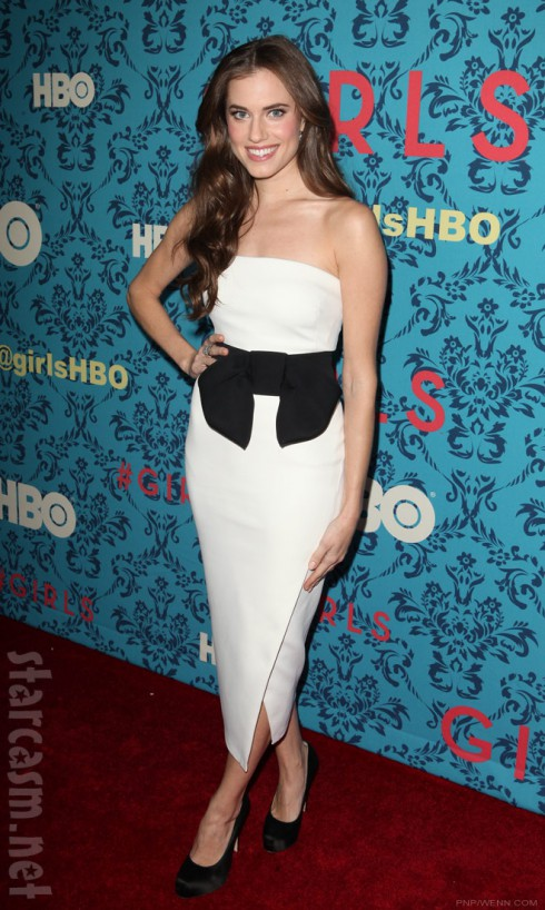 Allison Williams at the HBO Girls Premiere in New York City on April 4 2012