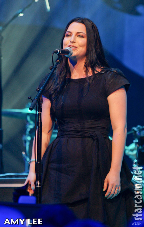 Amy Lee of Evanescence at We Walk the Line Johnny Cash tribute concert