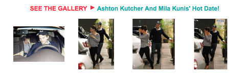 Photos of Mila Kunis and Ashton Kutcher on a date 2012
