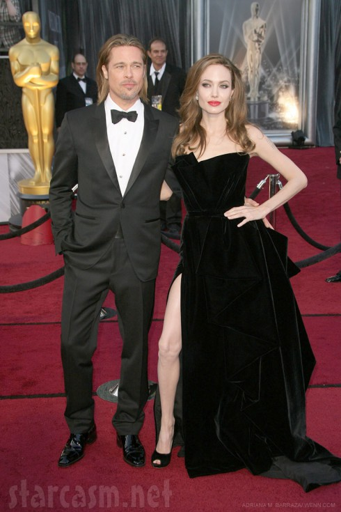 Brad Pitt and Angelina Jolie 84th Annual Academy Awards 2012