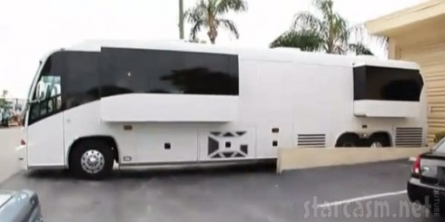 DJ Khaled tour bus side view