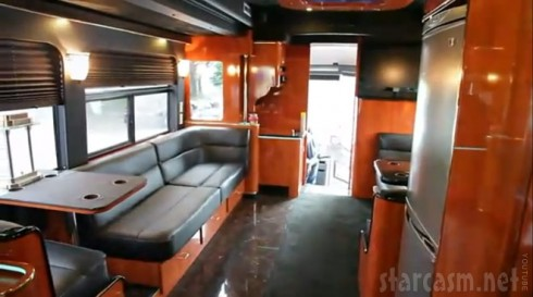 DJ Khaled tour bus interior photo before the fire