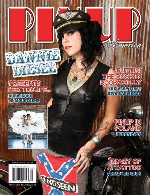 Danielle Colby Cushman as Dannie Diesel on PinUp America magazine cover