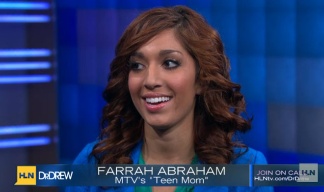 Teen Mom Farrah Abraham on Dr. Drew's call in show on HLN