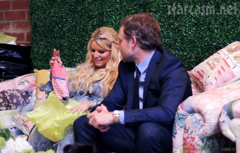 Jessica Simpson and husband Eric Johnson at their baby shower