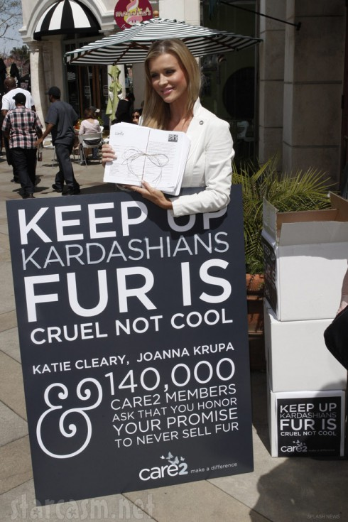 Real Housewives of Miami's Joanna Krupa protests the Kardashians' DASH store in California