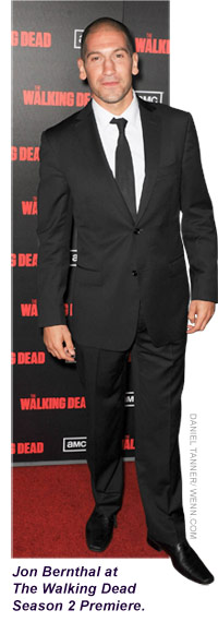 Jon Bernthal, who plays Shane Walsh, in a tux at The Walking Dead Season 2 Premiere