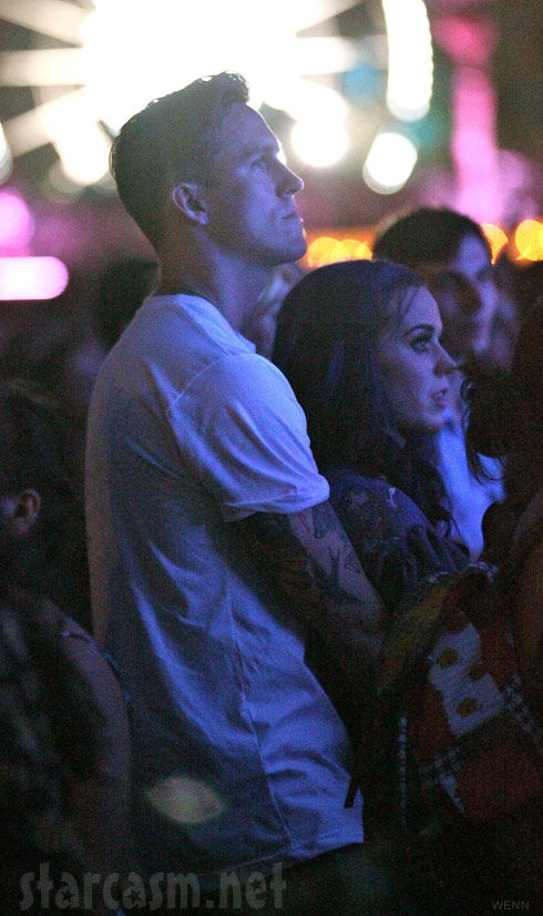 Katy Perry and new boyfriend Robert Ackroyd hugging at Coachella