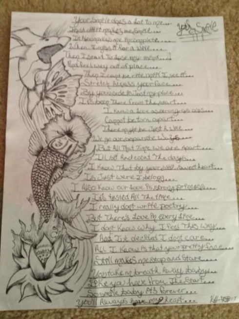 Kieffer Delp love poem for Jenelle Evans