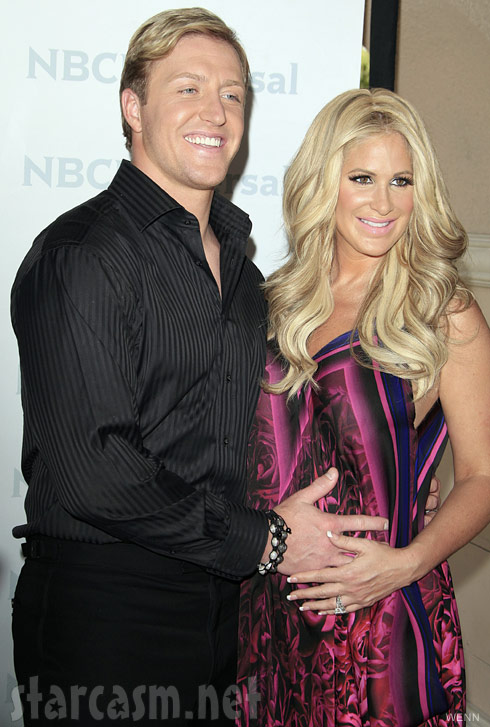 Kroy Biermann and pregnant Kim Zolciak at NBC Universal Summer Press Day