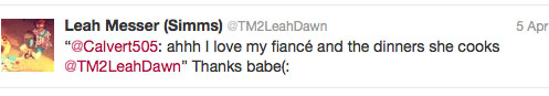Leah Sims and Jeremy Calvert tweet a day after getting married