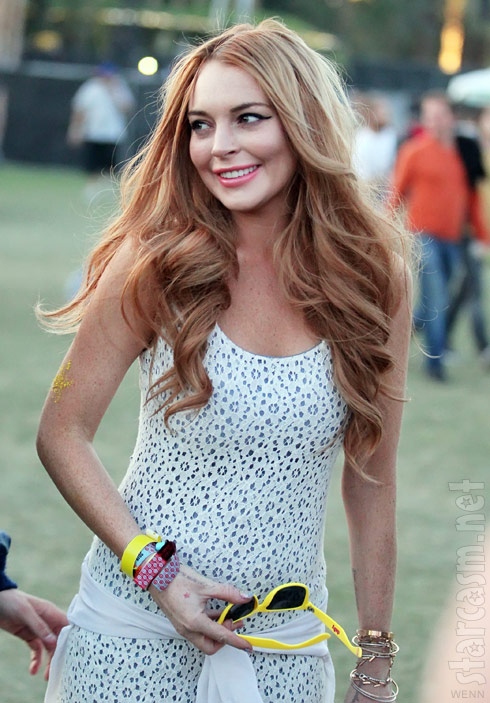 Lindsay Lohan looking great at Coachella 2012