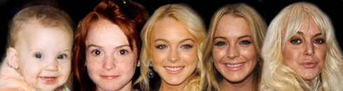 Lindsay Lohan through the years morphing video