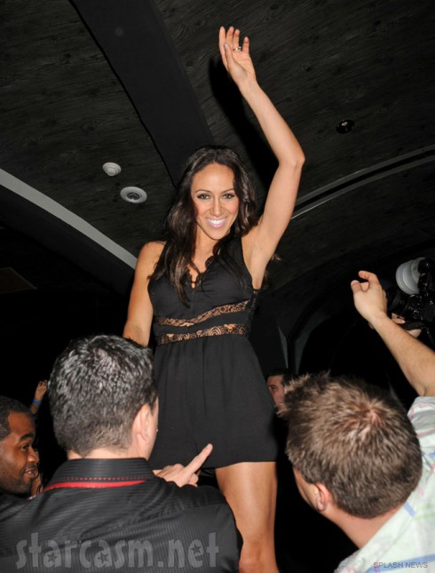 Melissa Gorga dancing sexy at The Real Housewives of New Jersey Season 4 Premiere party