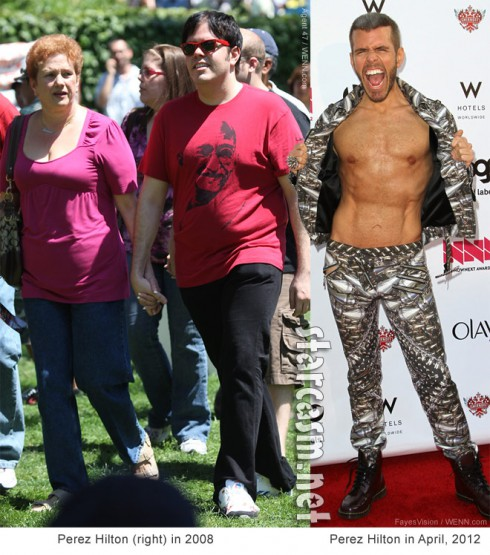 Photos of Perez Hilton before and after weight loss
