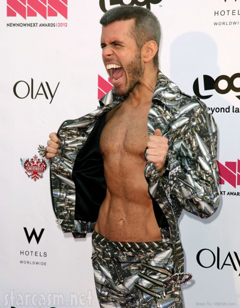 Perez Hilton shows off weight lost and chiseled chest at 2012 Logo NewNowNext Awards