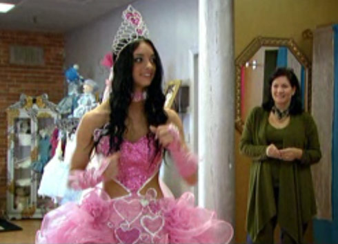 Priscilla's Quenn of Hearts Halloween dress from My Big Fat America Gypsy Wedding