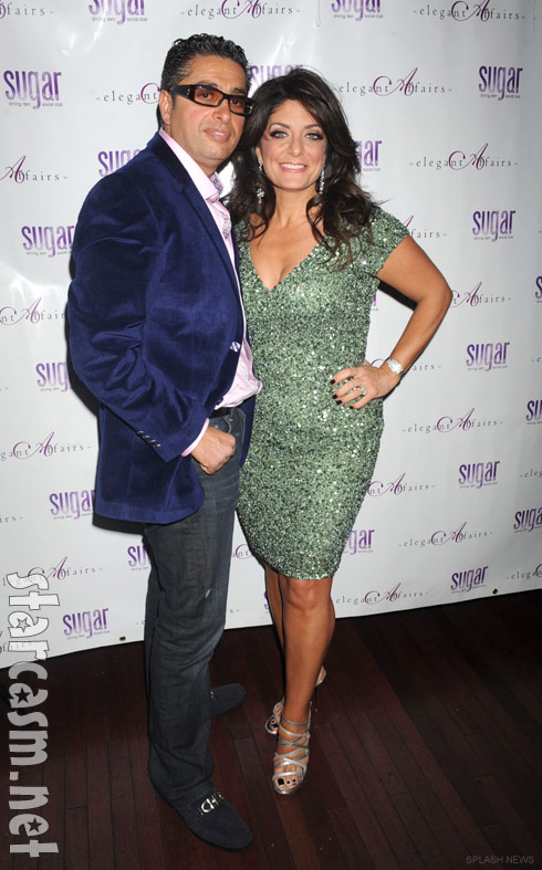 Kathy Wakile and husband Richie Wakile at The Real Housewives of New Jersey Season 4 Premiere Party