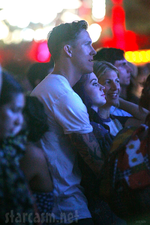 Robert Ackroyd and Katy Perry being intimate at Coachella