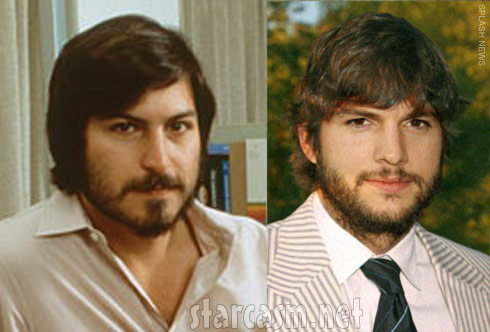 Steve Jobs Ashton Kutcher side by side photos
