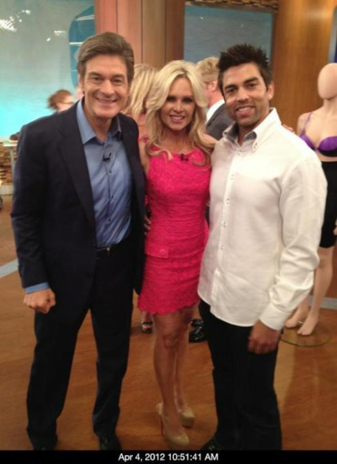 Tamra Barney and Eddie Judge pose with Dr. Oz