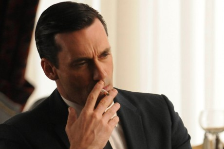 Don Draper sick smoking coughing