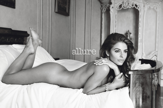 Maria Menounos nude for Allure magazine