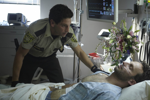 Shane and Rick in the hospital before the zombies took over
