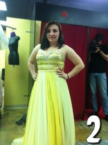 Alex Sekella yellow proom dress