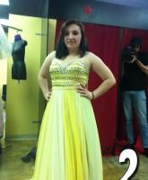 Alex Sekella yellow proom dress