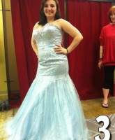 Teen Mom 3 Alex Sekella tries on a shimmering light blue prom dress