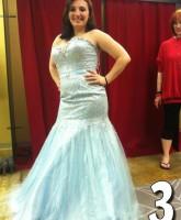 Teen Mom 3 Alex Sekella tries on a shimmering light blue prom dress