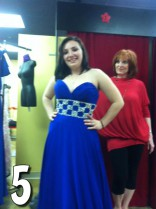 16 and Pregnant Season 4 Alex Sekella tries on a blue prom dress