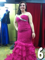 Teen Mom 3 Alex Sekella tries on a fuchsia prom dress