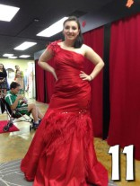 Teen Mom 3 Alex Sekella tries on a red prom dress