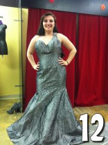 Teen Mom 3 Alex Sekella tries on a greenish blue prom dress